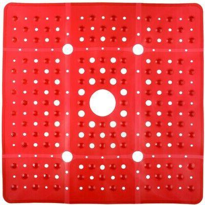 65% MORE SlipX Solutions Red Extra Large Shower Mat