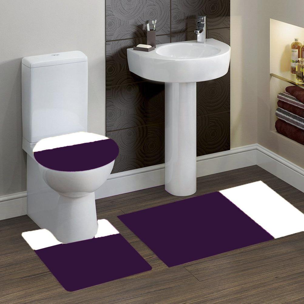7 2tone purple white banded bath mat