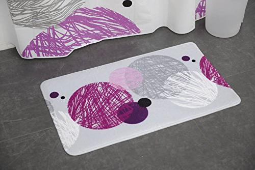 7701434 printed microfiber mat bathroom