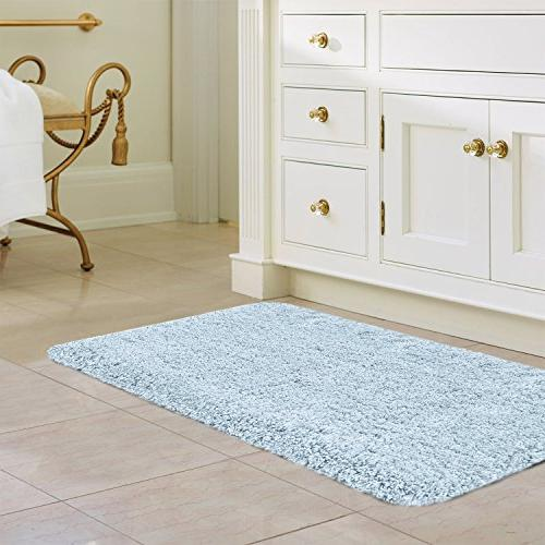 "Norcho 17""x27"" Absorb Mud Non Rubber Backing Mat Rugs Mats Light Blue"