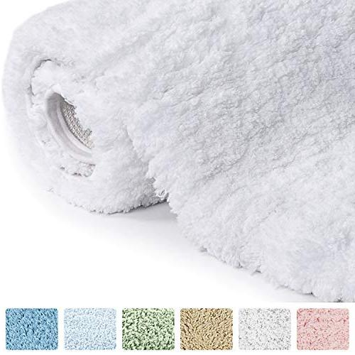 Norcho Soft Shaggy Non-slip Bath Luxury Mats Water Absorbent