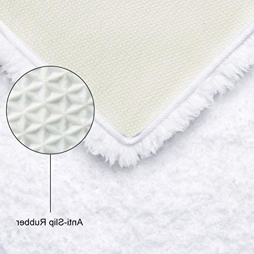 "Norcho 31"" 19"" Soft Shaggy Bath Mat Non-slip Bath Rug Luxury Microfiber Floor Mats Water"
