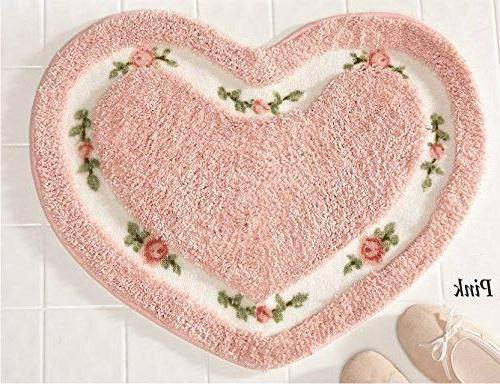 Pretty Pink Floral Rose Heart Shape by