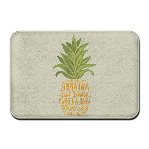 a pineapple tropical fruitdoormat entrance