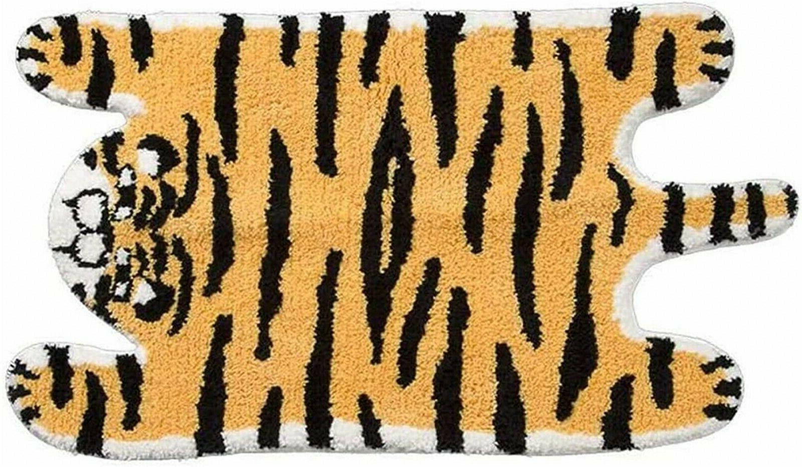 animal rug tiger shaped animals bath mat