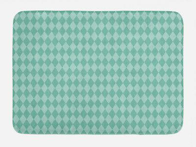 aqua bath mat rectangular geometric tile non
