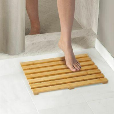 mDesign Bath Mat Wide, Pack - Natural