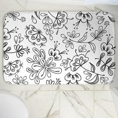 band with flora memory foam bath rug