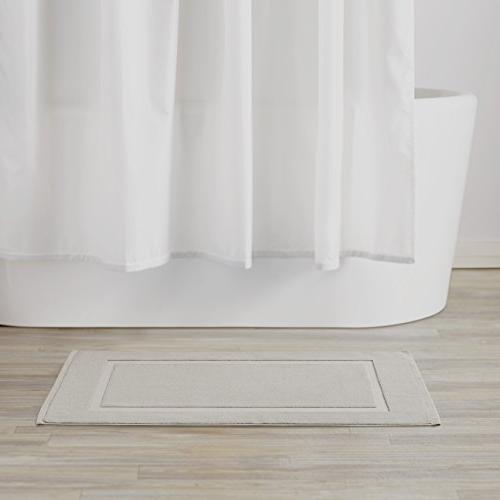AmazonBasics Bath Mat, Grey