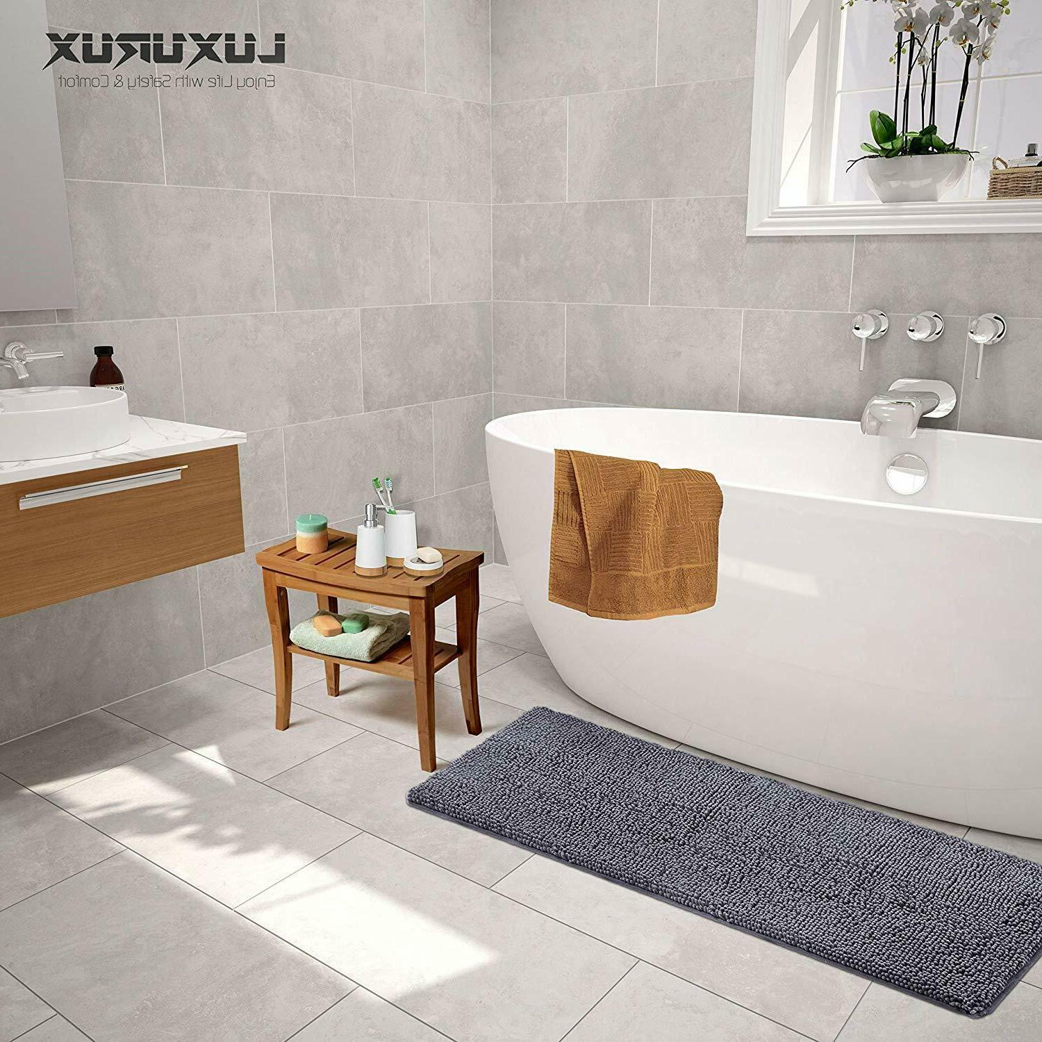 LuxUrux Bath mat-Extra-Soft Plush, Absorbent , Large - Bath