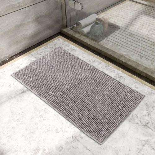 Lifewit Slip Bath Mat x Bathroom Rugs Gray