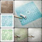 Bath Mat Pebblz With Non-Slip Suction Textured And smooth Sq
