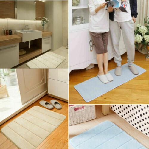 Bath Non-slip Absorbent Soft Foam Bathroom Carpet Home Floor Mat Gift