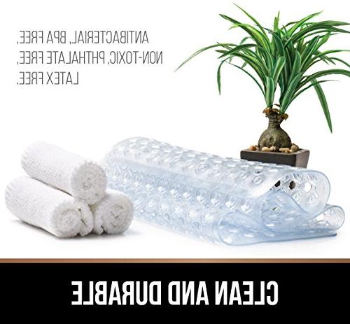 Gorilla Grip Patented Bath, Shower, Machine Antibacterial, Mats Suction Cups, Bathroom Mats