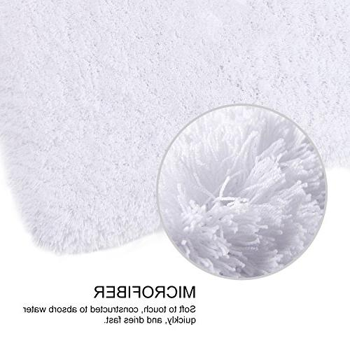 """Lifewit 17""""x47"""" Bathroom Rugs Room Absorbent Mat White"""