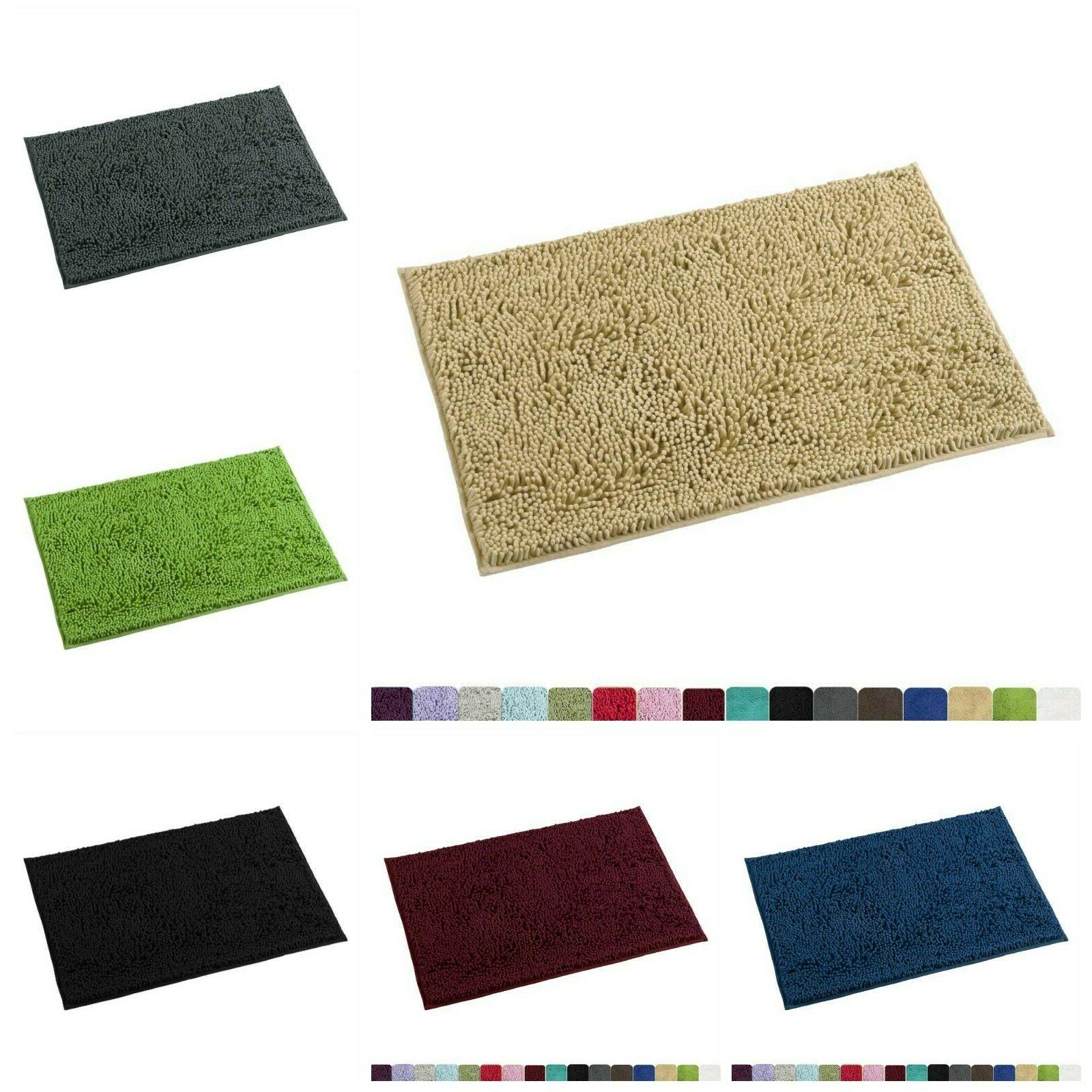 Bathroom Rug Non Slip Shower Mat Water Absorbent Soft Microf