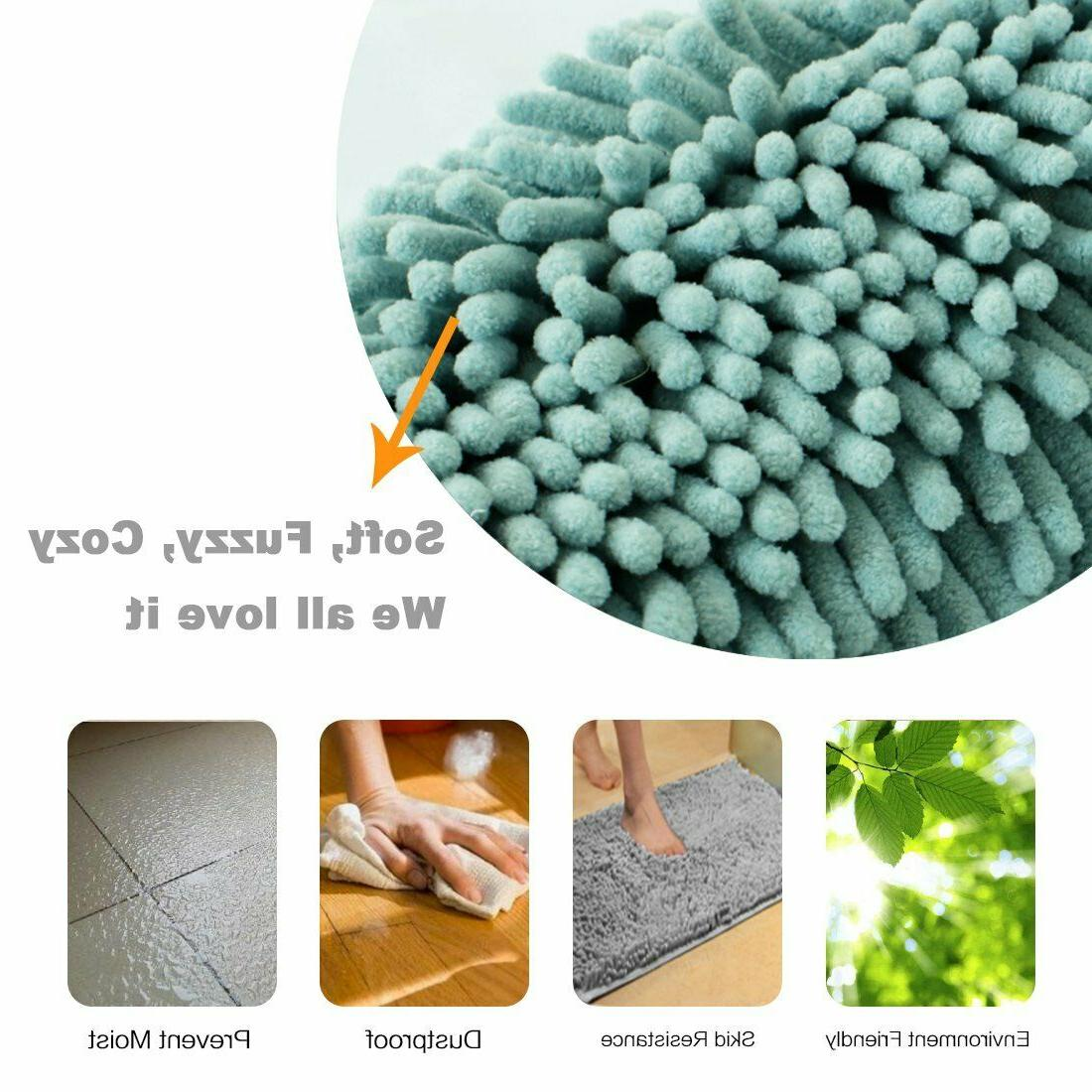 Bathroom Rug Shower Mat Microfiber Chenille