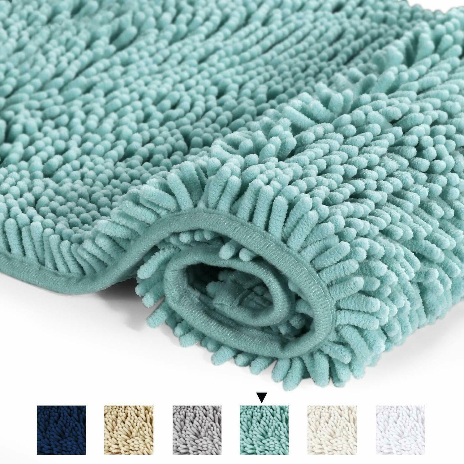 Bathroom Rug Shower Mat Plush Microfiber