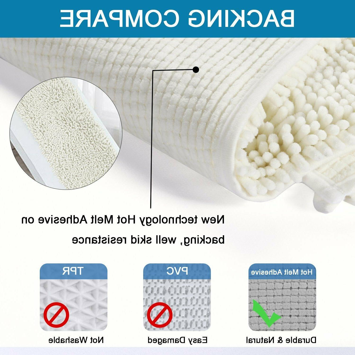 Bathroom Rug Shower Bath Mat Plush Soft