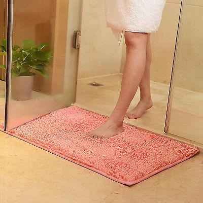 Bathroom Shower Carpet Soft Shaggy Non Slip Absorbent Mat