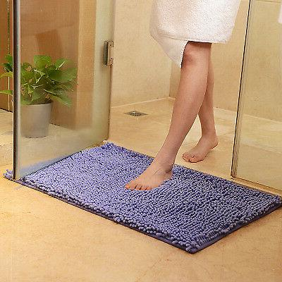 Bathroom Rugs Soft Microfiber Slip Absorbent Bath
