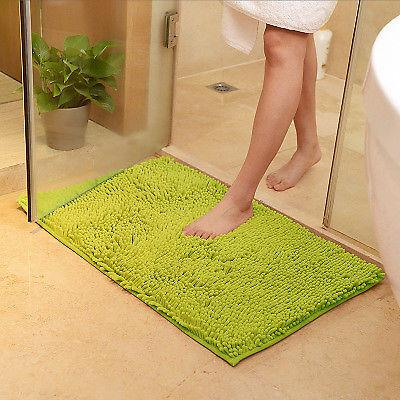 Bathroom Rugs Soft Microfiber Non Slip Absorbent Bath Mat