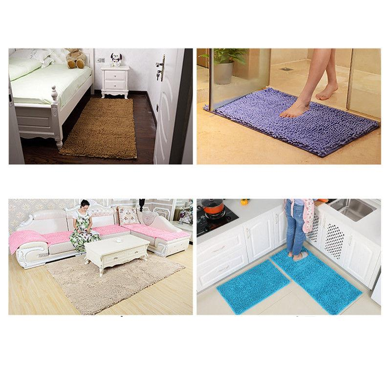 Bathroom Shower Rugs Carpet Soft Microfiber Shaggy Slip