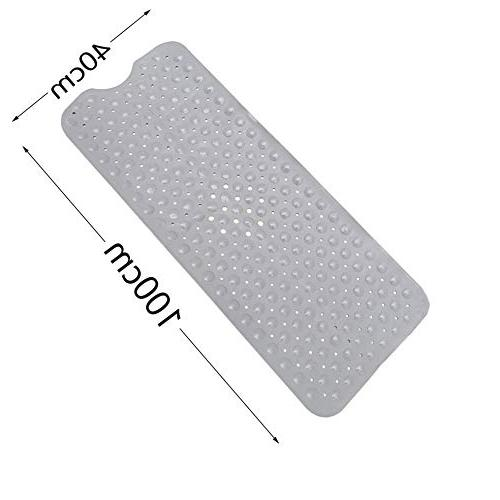 "Kanfasphy Bathtub Mat for Tub,Non for Shower and Tub,Extra Long 39"" x 16"""