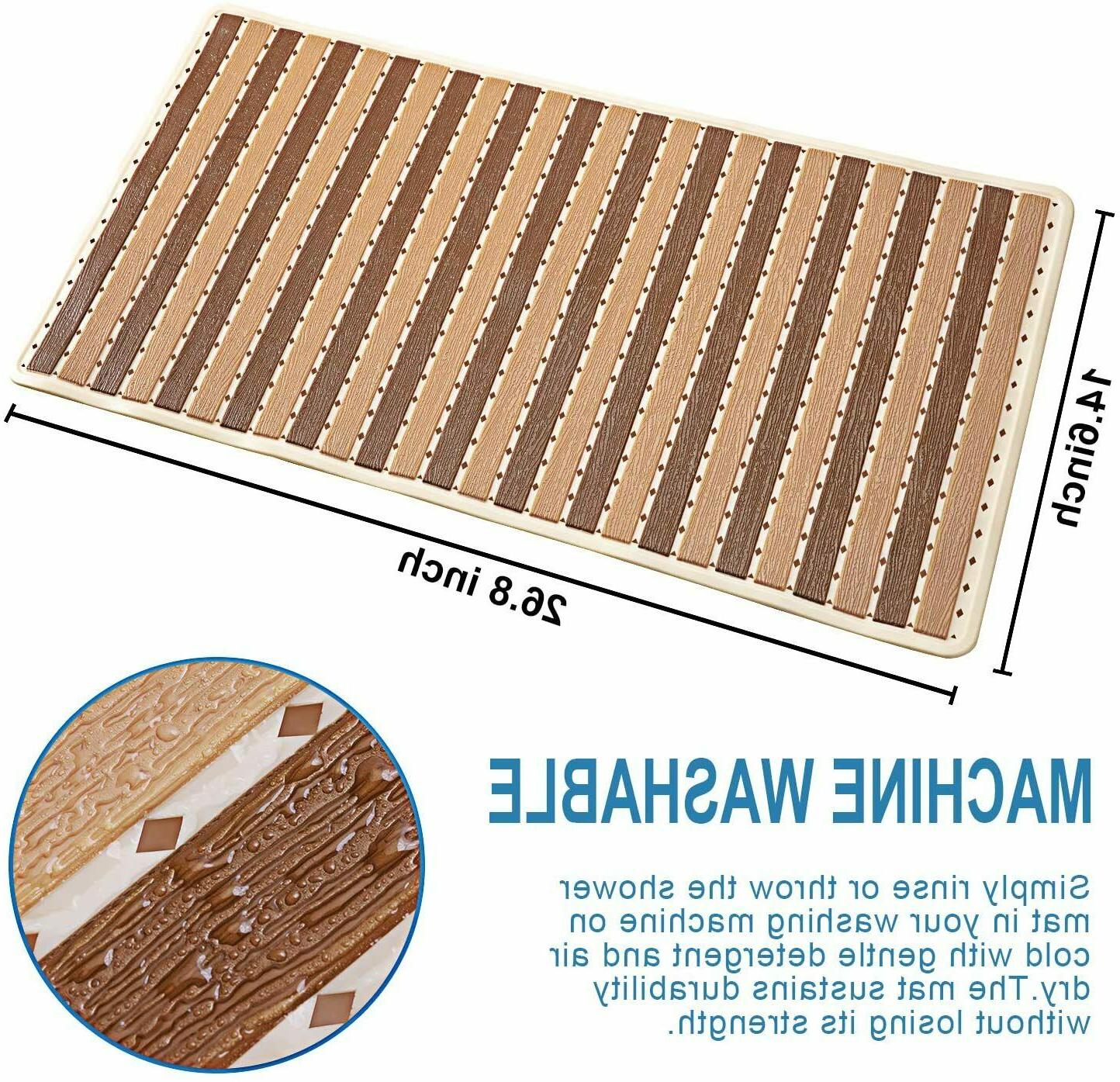 Bathtub Shower Non Slip Bath Mat With Cups For NEW