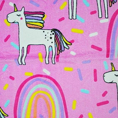 """CC EFIND for Kids, Cotton Soft X 48"""" Unicorn Terry Towel for Swimming, Bath, Picnic"""