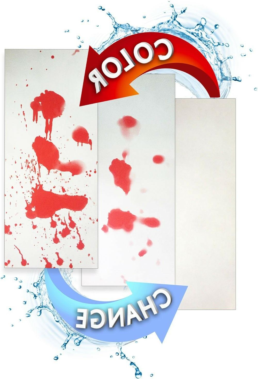 Blood Bath Mat: Color changing bloody red when 27x16in