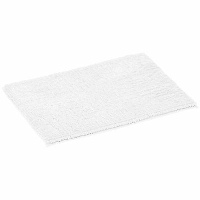 chenille loop memory foam bath mat white