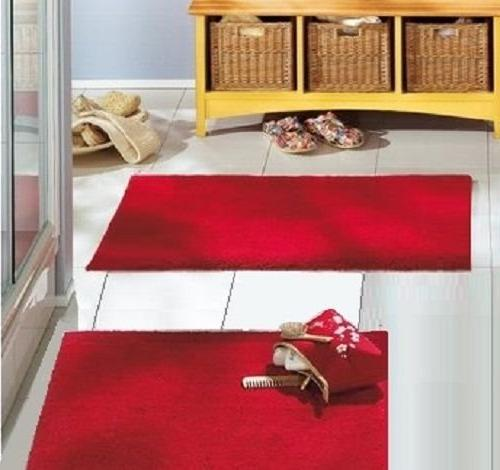christmas red bath rug