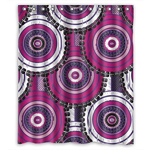 circle bathroom curtains polyester width