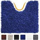 VDOMUS Contour  Rug, Soft Shaggy U-shaped Toilet Floor Mat r