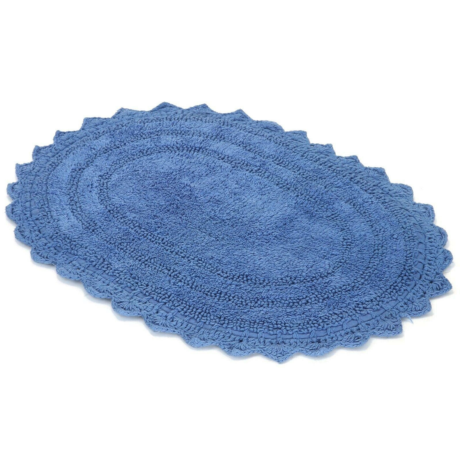 cotton bath mat rug 17x24 inches crochet
