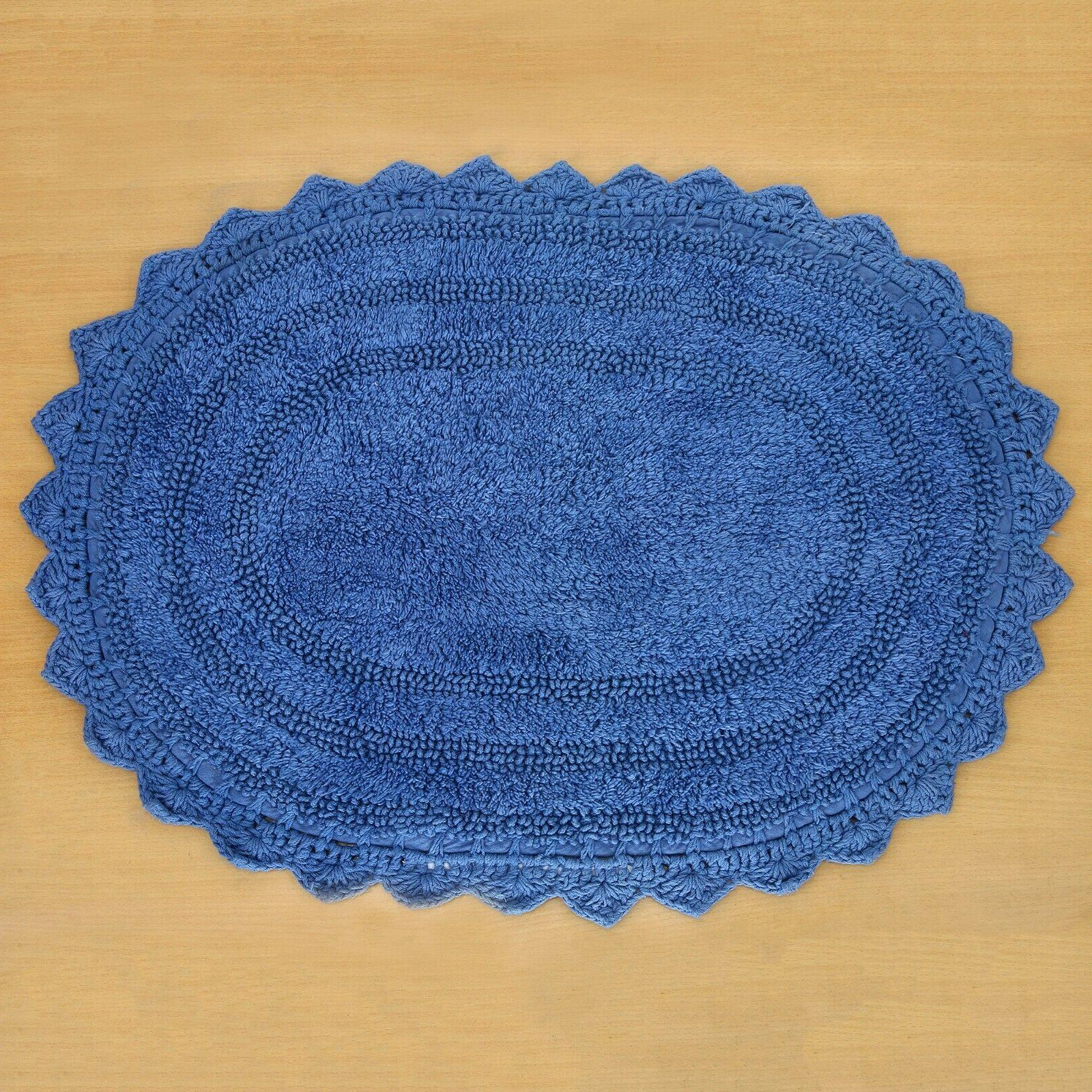 Cotton Bath Mat 17X24 Inches Shape Ocean