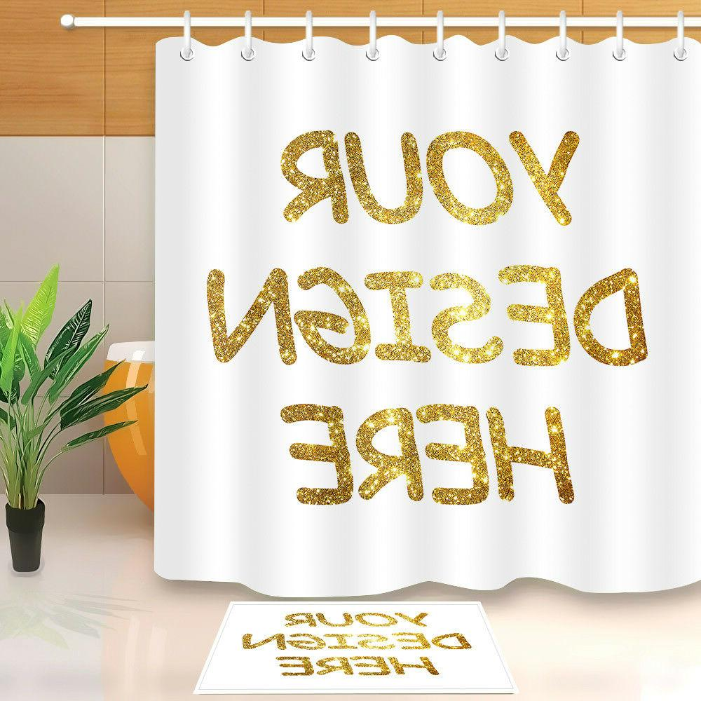 customized shower curtain waterproof polyester fabric