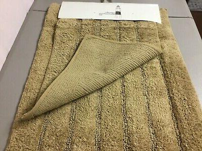 Chesapeake Davidson pc. Bath Mat Rug Set Linen #78V