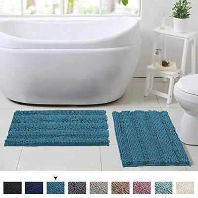 extra thick striped chenille bath rugs soft
