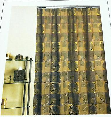 fabric shower curtain urban chic gold color