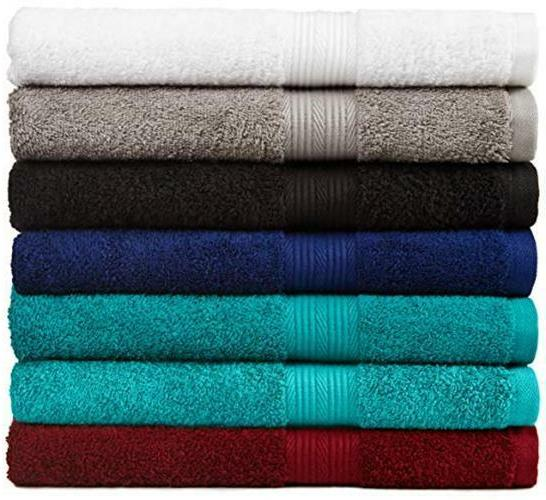 AmazonBasics Fade-Resistant 6-Piece Towel Set Assorted , Colors