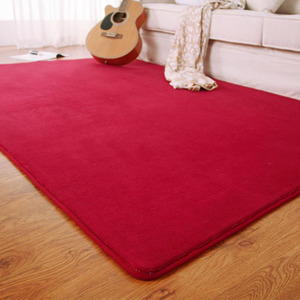 Fashion Flannel Memory Solid Bedroom Area Gray/Red/Coffee Kitchen Floor <font><b>Mats</b></font> Doormat