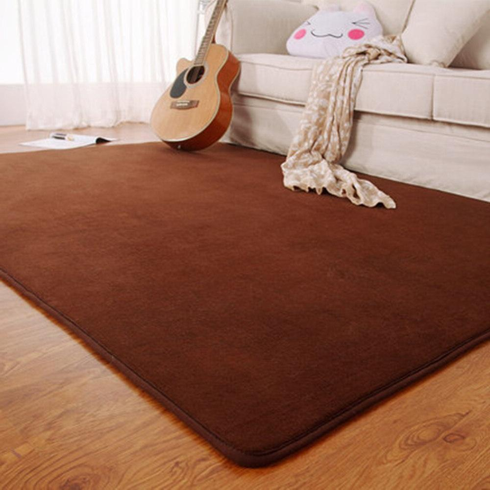 Fashion Flannel Foam Solid Room Area rug Gray/Red/Coffee Floor <font><b>Mats</b></font> Doormat