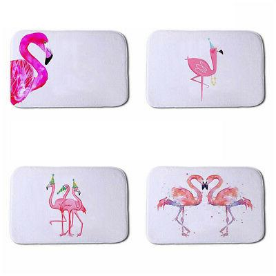 Flamingo Pattern Bathroom Bedroom Bath Mat Floor Rug Carpet