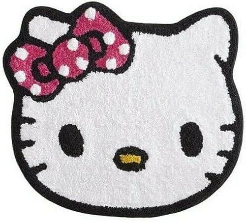 "Hello Kitty Cotton Bath Rug Machine Washable 26"" x 22"""