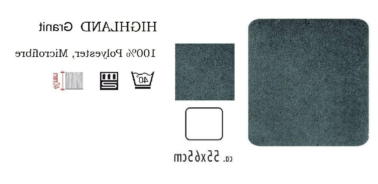 Spirella Highland Granite Bathroom Carpet Bathmat 21 11/16x25