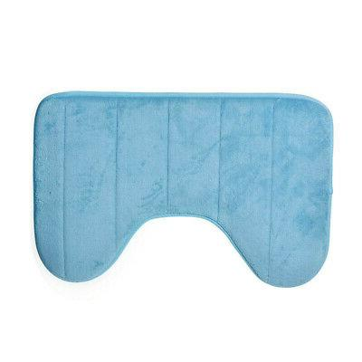 Home Mat Bathroom Rug Toilet Contour Water