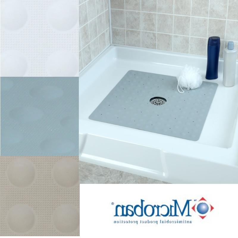 Large Non-Slip Rubber Shower Mat with Microban: SlipX Soluti