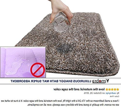 Yimobra Mats Absorbent,Large 31.5 W 19.8 Inch ,Soft,Non slip,Microfiber with Pink